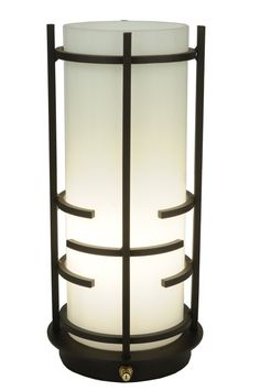 """12""""H Revival Deco Table Lantern. This fanciful table lamp lantern with straight lines is reminiscent of the high art of the Art Deco era."""