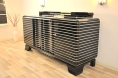 Art Deco chrome liner sideboard from New York 1930