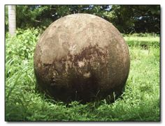 The Giant Stone Balls of Costa Rica Costa Rica and a few surrounding areas are scattered with giant stone balls. They are smooth and perfectly spherical, or nearly so. Some of them are quite small, a few inches in diameter, but some of them are as large as eight feet in diameter weighing several tons. They have been chiseled to perfection by persons unknown.