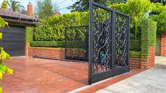 House Main Gates Design, House Fence Design, Fence Gate Design, Front Gate Design, Door Design, Gate Designs Modern, Modern Fence Design, Modern Exterior House Designs, Dream House Exterior