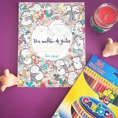 Si os gustan los gatos y os gusta colorear, no podeis dejar escapar este simpático libro.  Despierta la imaginación y da rienda suelta al artista que llevas dentro en compañía de estos adorables felinos.  PVP: 6.90€