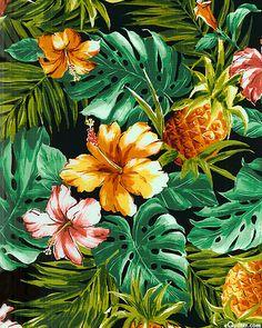 Hawaiian Fiesta - Fruits & Flowers - Quilt Fabrics from www.eQuilter.com