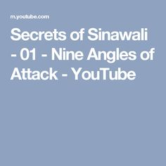 Secrets of Sinawali - 01 - Nine Angles of Attack - YouTube