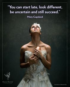 Enjoy this quote from the first African American Female Principal Dancer with the illustrious American Ballet Theatre, Misty Copeland 👑🤩⭐️ Dancer Quotes, Ballet Quotes, Zumba, Dance Motivation, Dancer Problems, American Ballet Theatre, Triple Goddess, Dance Recital, Dance Photography