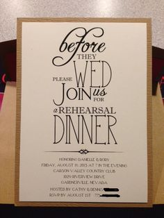 Rehearsal dinner decorations for wedding party 45 - Creative Maxx Ideas Rehearsal Dinner Centerpieces, Rehearsal Dinner Invitations, Rehearsal Dinners, Invites, Wedding Rehearsal Dress, Invitation Wording, Dream Wedding, Our Wedding, Wedding Ideas