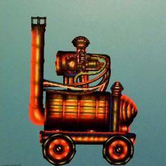 """Gennaro Cilento, """"Locomotive"""", acrilico su tela"""