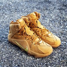 best website ef6fd 70c88 Special edition version of LeBron James  Nike LeBron 12 in a wheat colorway  similar to