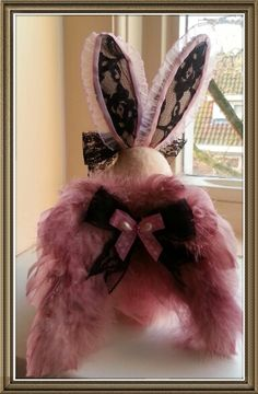 Angel easter bunny shabby chic victorian.