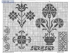 Free Easy Cross, Pattern Maker, PCStitch Charts + Free Historic Old Pattern… Medieval Embroidery, Embroidery Sampler, Cross Stitch Embroidery, Embroidery Patterns, Cross Stitch Patterns, Motifs Blackwork, Vintage Cross Stitches, Pattern Library, Maker