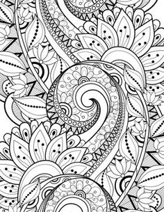 Vector Seamless Monochrome Floral Pattern Hand Drawn Texture