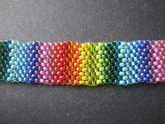 Rainbow Peyote with Assorted 11/o Seed Beads - inspirational blogspot - all size 11 beads are not the same size