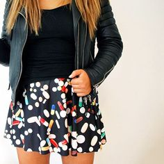 Aina rockin our Chill Pill Skater Skirt!