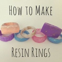 Have you ever wanted to make resin jewelry? I've listed the steps and materials you need to create custom rings below!