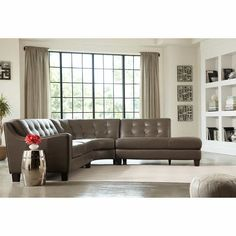 Blakely Top Grain Leather Sectional