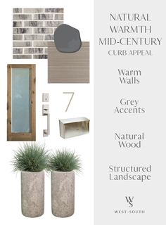 Know Your Home: Mid-Century Modern Style | West | South Modern Garage, Modern Exterior, Modern Contemporary Homes, Mid-century Modern, Modern Homes, Exterior Door Hardware, Exterior Paint, Exterior Siding, Exterior Colors