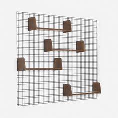 Lot 153: Studio PFR (Gio Ponti, Antonio Fornaroli & Alberto Rosselli). shelving unit. c. 1960, enameled steel, ribbon mahogany, laminate. 74¾ w x 7½ d x 54¾ h in. result: $8,750. estimate: $5,000–7,000. Unit features four independently adjustable shelves.