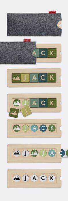 We've developed a contemporary, high quality version of the timeless wooden name puzzle which is fully customizable, looks fantastic and has hidden educational super powers.