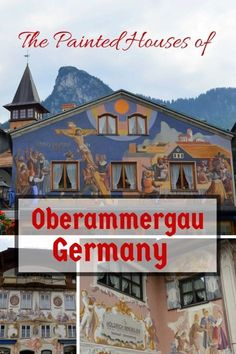 Germany with Kids: The Passion Play and Painted Houses in Oberammergau Germany with Kids: The Passion Play and Painted Houses in Oberammergau Visit Germany, Germany Travel, European Vacation, European Travel, Vacation Spots, Oberammergau Germany, Rothenburg Germany, Travel With Kids, Family Travel
