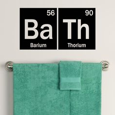 Periodic Table Bath Decal Element Decor by OffTheWallExpression