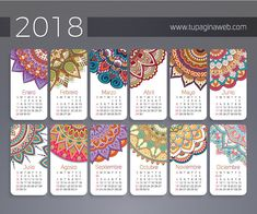 This HD wallpaper is about 2018 calendar flower mandala digital wallpaper, multicolored calendar, Original wallpaper dimensions is file size is 2018 Printable Calendar, Printable Planner, Printables, Calendar Calendar, Planner 2018, Diy Agenda, Web Design Quotes, Photos Hd, Calendar Wallpaper