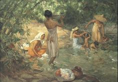 """Fernando Amorsolo y Cueto, Filipino painter, was an important influence on contemporary Filipino art and artists, even beyond the so-called """"Amorsolo school"""". Subjects: Philippine Genre, historical and society Portraits. Arte Filipino, Filipino Culture, Renaissance Kunst, Munier, Philippine Art, Cement Art, Historical Art, Ancient Art, Aesthetic Art"""