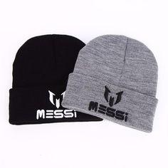 5fddad70462 New Soccer Messi Fans Hat women Men Skullies Black Gray Women Beanie Whiter Hats  Beanies Warm
