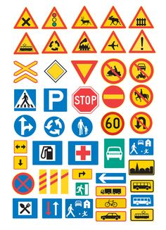 traffic signs from minorpostcards Creative Teaching, Teaching Kids, Transportation Activities, Lucas Arts, Block Center, Early Childhood Education, Science And Nature, Signs, School Projects