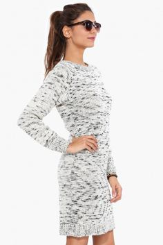 Alpine Sweater Dress in Black/white | Necessary Clothing