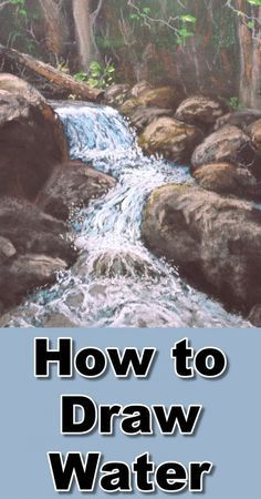 How to Add Water – Small Rapids in Pastel Learn how to draw rapids, water, rivers in this pastel drawing painting art lesson at online art classes Watercolor Techniques, Drawing Techniques, Watercolor Paintings, Painting Art, Pastel Paintings, Watercolor Artists, Indian Paintings, Abstract Paintings, Oil Paintings