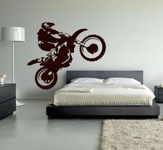 """Get This Vinyl Home Dirt Bike Sport Wall Art + Free Shipping! NOT SOLD IN STORES. Be Sure To Claim Yours Before They're Gone! The Checkout Process is Guaranteed To Be 100% Safe and Secure with PayPal Click """"Buy Now"""" To Get Yours! *** This item will be shipped from our international warehouse, please allow 14-35 business day for the product delivery. *** HURRY UP! ONLY A FEW LEFT! Style: Modern Pattern: Plane Wall Sticker Classification: For Wall Brand Name: JUEKUI Scenarios: Wall Model…"""