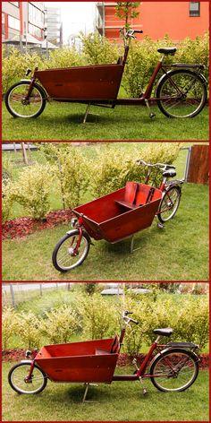Bakfiets Classic Bullitt Bike, Velo Cargo, Bike Trailer, Bike Stuff, Wheelbarrow, Custom Bikes, Biking, Bicycles, Cycling