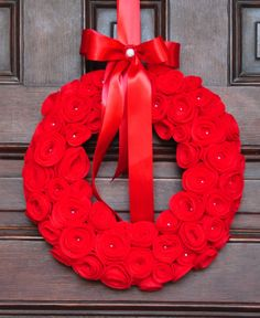 Valentine's Day Wreath Spring Wreath Red by SomethingWhimdesigns, $45.00