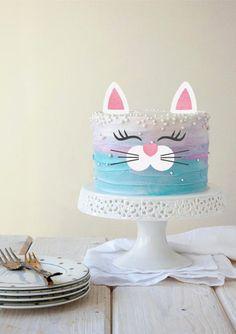 cat cake Kitty cake topper cat cake topper kitty b - cat Birthday Cake For Cat, Birthday Parties, Little Girl Birthday Cakes, Birthday Ideas, Birthday Memes, Teen Birthday, Birthday Nails, Happy Birthday, Cat Cake Topper