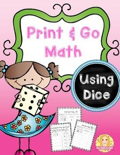 This freebie contains 5 print and go math activities.  The only materials needed are: ~Copies of the printables ~Dice ~Base Ten Blocks  If you would like your students to have more practice than on the one side of the printable, simply run copies front to back.