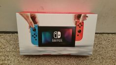 Nintendo Switch 32GB Gray Console with Neon Red/Neon Blue Joy-Con Factory Sealed #Nintendo