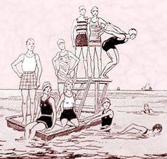 1920s sunbathing illustration