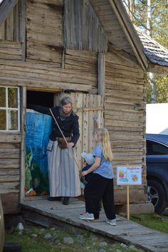 Museoalueella on lapsille tarjolla ongintaa. Luuppi, Oulu (Finland)