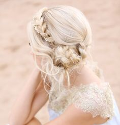 28e7824fb6d Another view of this stunning braided updo Bridal Hairstyles