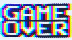 Game over Pixels - Hamma Beads