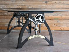 IndustriaLux Crank Table by Vintage Industrial Furniture