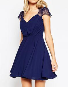 Image 3 ofASOS PETITE Kate Lace Mini Dress