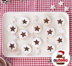 Decorated Shortbread Cookies Nutella® hazelnut spread
