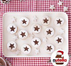 Decorated Shortbread Cutouts with Nutella® hazelnut spread