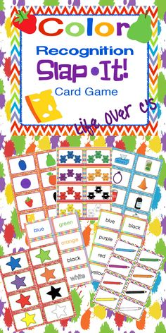 Students will have a blast learning to recognize colors with these energetic card games. Multiple representations of each color are provided giving students the practice that they need to become familiar with color recognition. instructions for 8 games are included! $ #education #kindergarten #prek #colors #rainbow
