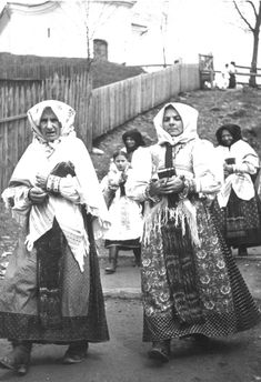 Polomka, Slovakia Folk Costume, Costumes, Embroidered Caps, Purple Blouse, Ethnic Dress, Linen Blouse, Vintage Textiles, Black Trim, Traditional Outfits