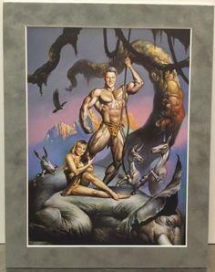 Boris-Vallejo-BILL-amp-HILLARY-CLINTON-Suede-Matted-Print-Fantasy-Democrat-Erotic