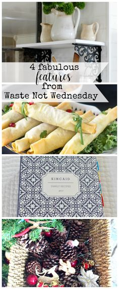 Features from our fun Waste Not Wednesday-84 DIY, Craft, Home Decor and Recipe party this week! Be sure to join us and share your DIY, Craft, Home Decor and favourite recipes!   www.raggedy-bits.com   www.mythriftyhouse.com   www.salvagesisterandmister.com   #WasteNotWednesday #DIY #HomeDecor #Craft #Recipes