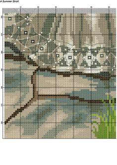 Летняя прогулка Counted Cross Stitch Patterns, Cross Stitch Designs, Beaded Embroidery, Hand Embroidery, Cross Stitch Pictures, Victorian Women, Cross Stitch Flowers, Plastic Canvas Patterns, Rug Hooking