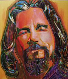 """His Dudeness"" original art from The Big Lebowski Series by Chuck Hamilton, A. T. HUN Art Gallery, Savannah, GA.  16"" X 20"" prints available online at athun.com"