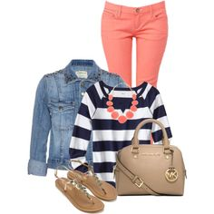 Untitled #805 by twinkle0088 on Polyvore featuring Gap, Current/Elliott, Accessorize, Michael Kors and Forever New